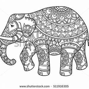 India Elephant Coloring Page Finished Elephant Coloring Page Indian Elephant Drawing Cool Designs To Draw