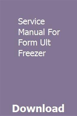 Service Manual For Form Ult Freezer Chevrolet Cruze Cruze Excavator For Sale