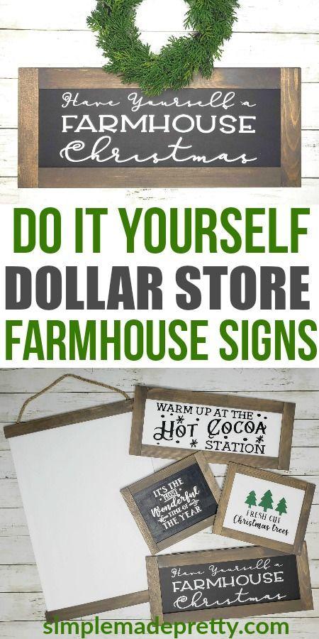 Diy Dollar Store Farmhouse Signs Diy Dollar Store Crafts Farmhouse Signs Diy Dollar Store Diy Decorations