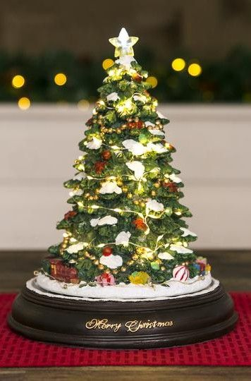 This Unique Lighted Tabletop Christmas Tree Is Carefully And