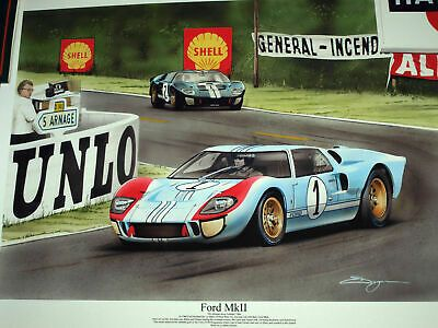 Details About Ford V Ferrari Gt40 Le Mans 1966 Ken Miles Carroll Shelby Lola Ford Mk2 Print Ford Gt40 Le Mans Ford Gt