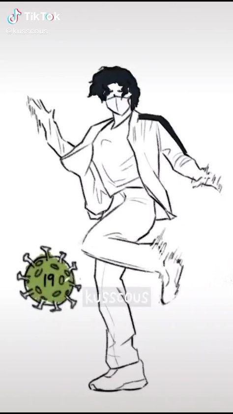 Sakusa dancing (tiktok @kusscous)