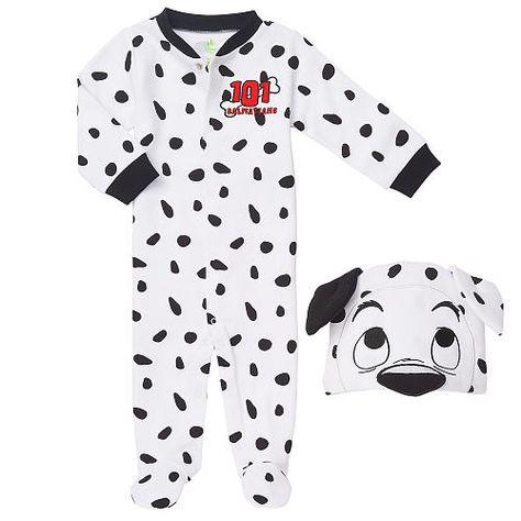 Disney Baby Girls 101 Dalmatians Footies and Hat