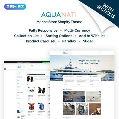 Aquanati - Marine Store Shopify Theme | design idea