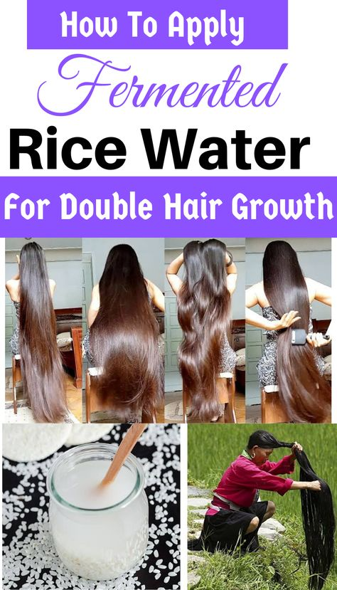 Know about How to make and use (DIY) fermeted rice water for double hair growth and control hair growth. Check out benefits and DIY Method. Hair Care Oil, Hair Growth Oil, Diy Hair Growth, Hair Growth Shampoo, Natural Hair Growth, Hair Oil, Long Hair Tips, Grow Long Hair, Long Hair Growing Tips