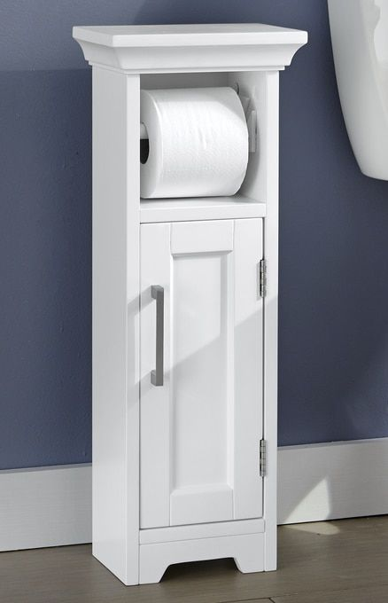Modern White Toilet Paper Holder In 2020 Toilet Paper Toilet Paper Stand Small Bathroom Storage