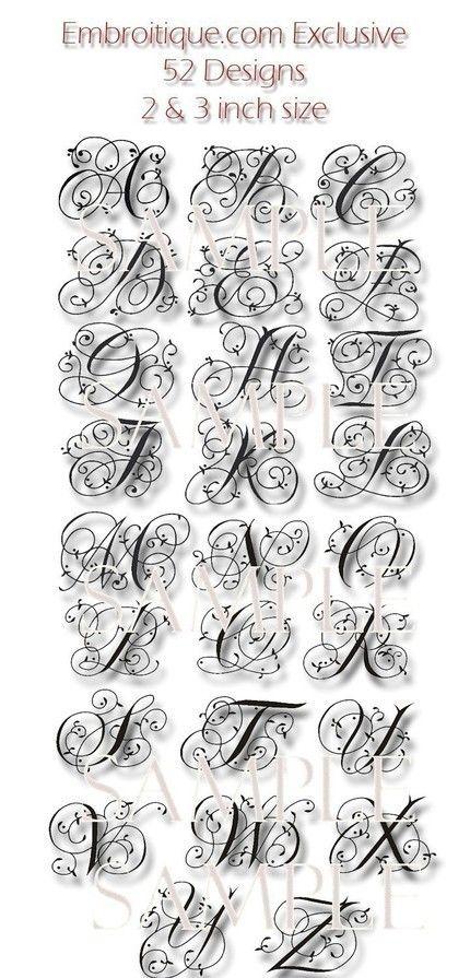 Maisie Monogramm Font Set 4 und 5Maschine von Embroitique auf Etsy