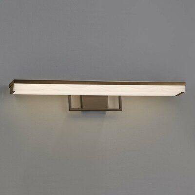 Orren Ellis Leith Linear 1 Light Led Vanity Light Finish Matte Black Shade Colour Pattern Waterfall Vanity Light Shade Vanity Lighting Polished Chrome