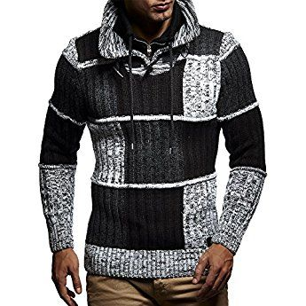 Leif Nelson LN5500 Men's Knit Pullover; Size US S, Black