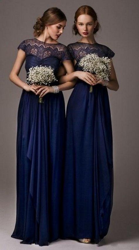 55 Elegant Navy And Gold Wedding Ideas   HappyWedd.com, Blue and Gold Weddings, Wedding Color Schemes, Blue Bridesmaid Dresses, Trending Wedding Colors of 2015 #navyweddings