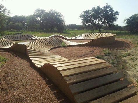 Bmx bike track 61 New Ideas Mtb Trails, Mountain Bike Trails, Landscape Architecture, Landscape Design, Natural Playground, Bike Path, Bike Parking, Backyard For Kids, Urban Furniture