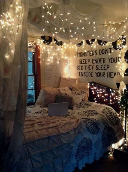 Spectacular Diy Fairy Lights Decoration Ideas Fairy Lights Are A Particularly Widespread Ornam In 2020 Comfortable Bedroom Comfortable Bedroom Decor Bedroom Design