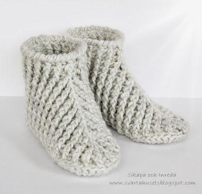Skapa och Inreda: Virkade BootsSlippers