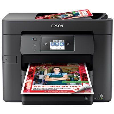 Epson Workforce Pro Wf 3730 Wireless All In One Inkjet Printer Multifunction Printer Printer Epson