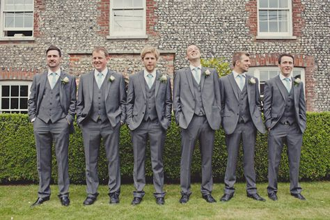 West Sus 1950s Wedding Charcoal Suit Grey And Groomsmen Suits