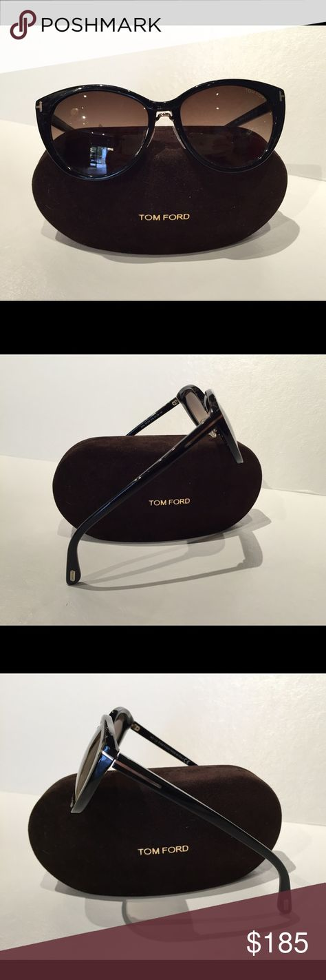 f0463acfeff Tom Ford black Gina sunglasses Tom Ford black Gina cat eye sunglasses.  Great condition