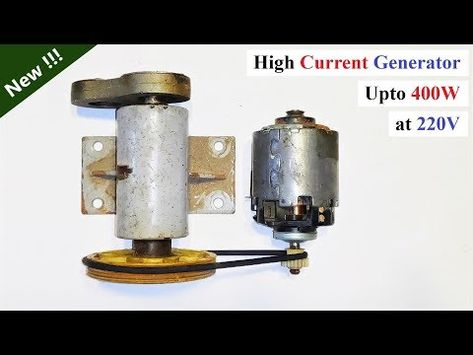 12v 32 Amps Dc Motor To 220v Electric Dynamo Generator High Current Motor Generator Youtube Motor Generator Electricity Alternator Repair