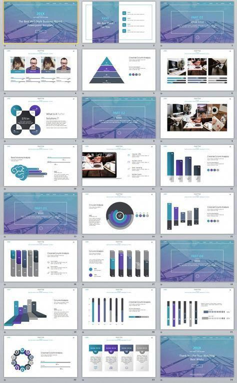 24+ Best Blue annual Design PowerPoint templates | PPT