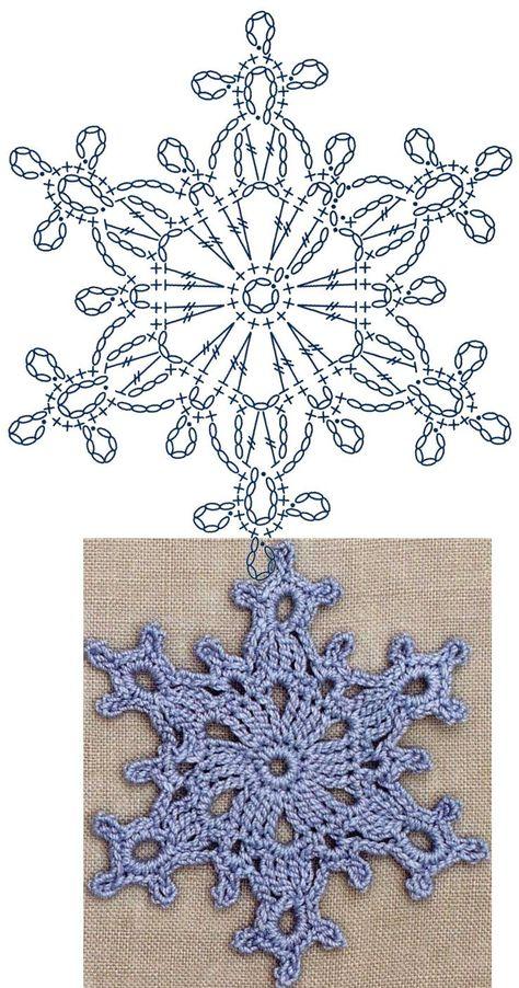No.7 Large Snowflake Lace Crochet Motifs / 눈송이 모티브도안 : 네이버 블로그