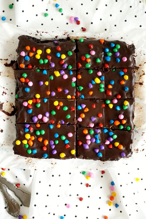 vegan homemade cosmic brownies | The Baking Fairy