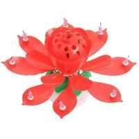 Inspire Uplift Blooming Musical Candle Red Blooming Musical Candle Magic Birthday Flower Candle Lotus Flower Candle