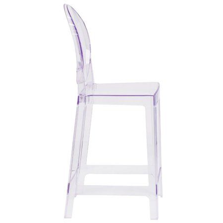 Terrific Flash Furniture Ghost Counter Stool In Transparent Crystal Gmtry Best Dining Table And Chair Ideas Images Gmtryco