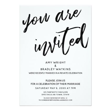 Handwriting You Are Invited Post Wedding Reception