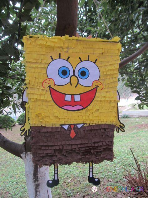 Diy Pinata Bob The Sponge Education Pinata Bob Bricolage