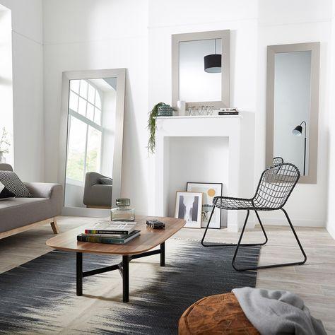 Miroir Loft Acier L70 X H170 Cm En 2019 Table Basse
