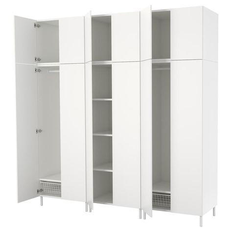 Armadietti In Plastica Ikea.Platsa Guardaroba Bianco Fonnes Bianco Guardaroba Bianco