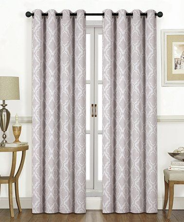 Beige Lattice Shelby Blackout Curtain Panel By Ramallah Trading