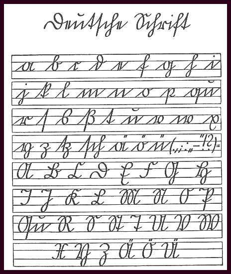 Altdeutsche Schrift Tattoo