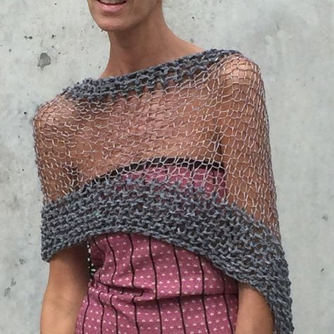 Gray sheer poncho coverup  LAST ONE in this shade