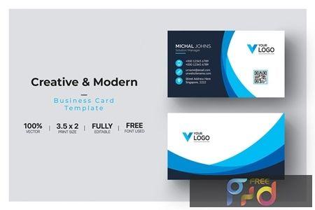 Modern Minimalist Business Card Template 1485660 Freepsdvn In 2021 Business Card Template Minimalist Business Cards Free Business Card Templates