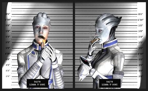 Liara Tsoni Hd Wallpaper Mass Effect Mug Shots Mass