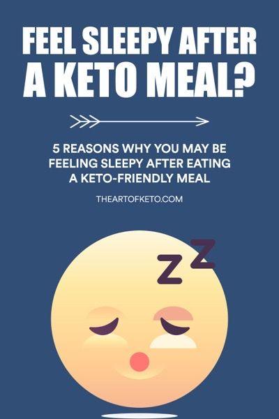 5 Reasons Why You May Be Feeling Sleepy After A Keto Meal The Art Of Keto Sleepy After Eating Feeling Sleepy Keto