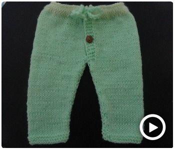 Como Tejer El Pantalon De Lana Para Bebe Pantalones De Lana Pantalones Bebe Ropa Tejida Para Bebe