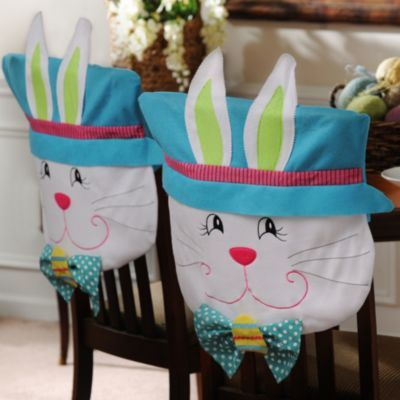 Cool Product Details Easter Boy Bunny Chair Covers Set Of 2 Spiritservingveterans Wood Chair Design Ideas Spiritservingveteransorg