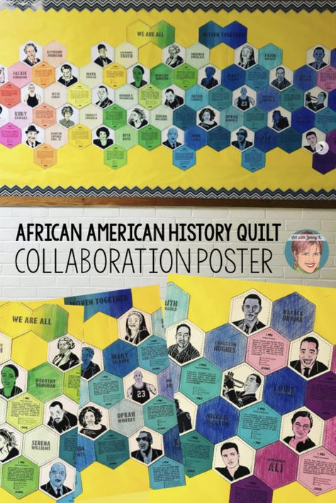 "Black History Month Activity | Collaboration ""Quilt"" Poster - Art with Jenny K"