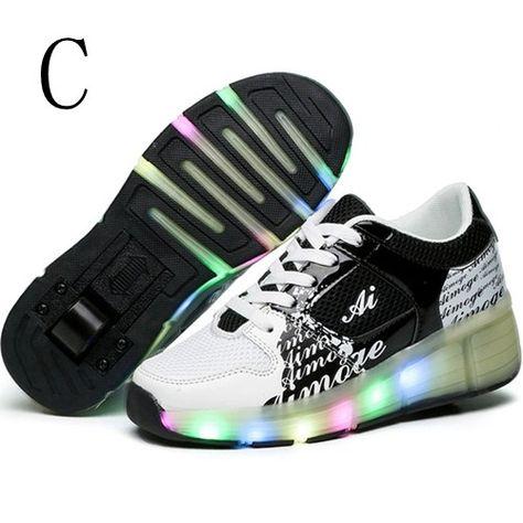 LED Schuhe Mit Rollen Kind Schwarze Für Jungen | Led schuhe