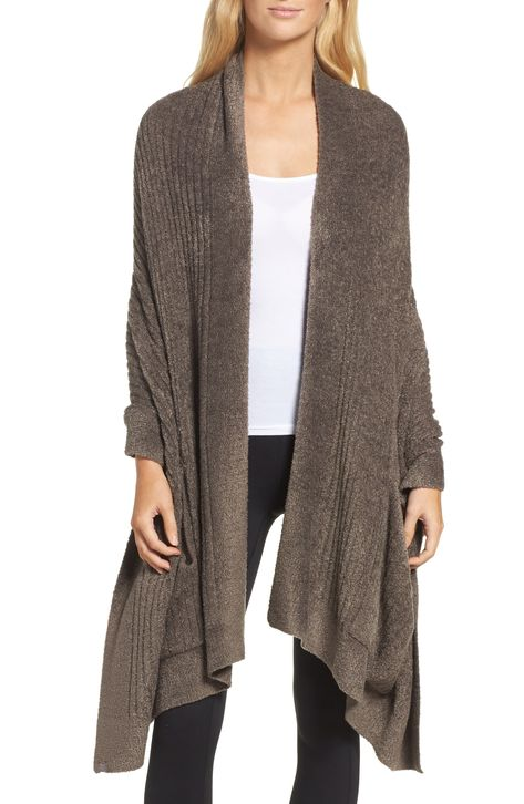 Women's Barefoot Dreams Cozychic Lite Travel Shawl, Size One Size - Brown
