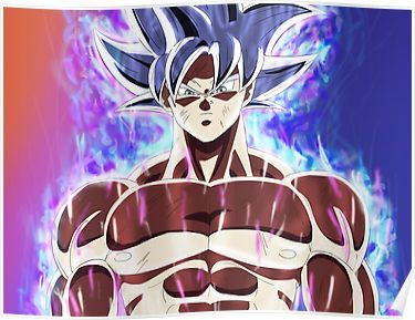 Goku Mastered Ultra Instinct Poster By D34thdesing Anime Dragon Ball Super Goku Ultra Instinct Dragon Ball
