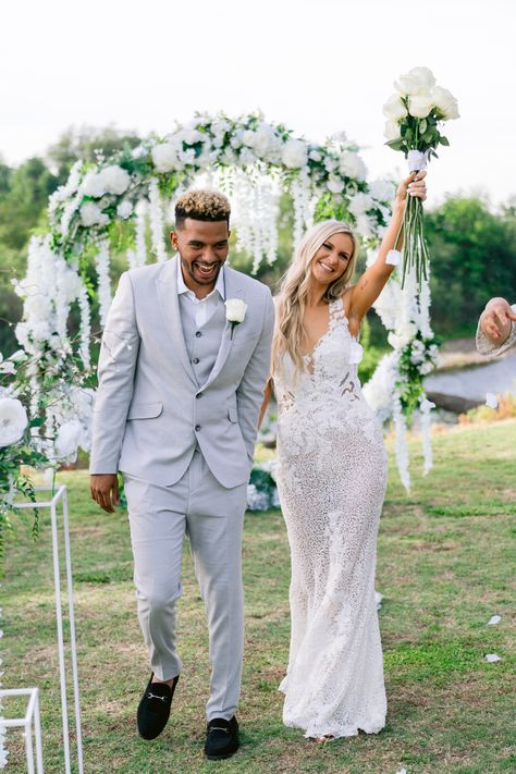 From the editorial From 400 Guests to 10, This Wedding Still Turned Out to Be Completely Epic! This bride and groom's story is so sweet, we're sharing all the details of their intimate outdoor wedding on SMP!  #outdoorwedding #brideandgroom #weddingday #weddingphotos