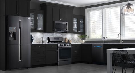 These Samsung Black Stainless Steel Appliances Look Beautiful In My Dream  Kitchen! Get Inspired For Your Kitchen Renovation With This Customizable  Design ...