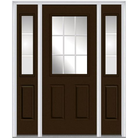 Smooth Star 3 4 Lite 1 Panel Flush Glazed Entry Door S2103 Gbgc Therma Tru Entry Doors With Glass Exterior Doors With Glass Exterior Doors