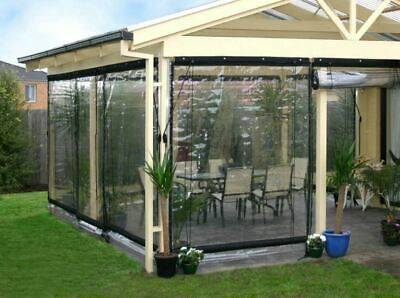 Waterproof Commercial 0 5mm Tpu Clear Awning Canopy Patio Roll Up Enclosure New Ebay Outdoor Curtains For Patio Awning Canopy Patio