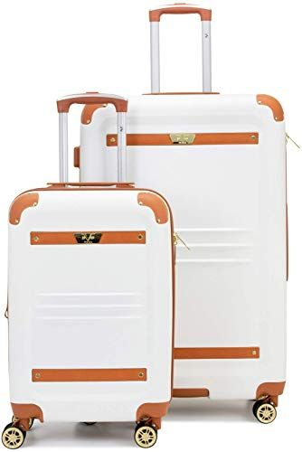 New 19v69 Italia Vintage Expandable Hard Spinner Luggage 2 Piece