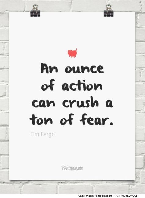 Motivational Cat Quote An Ounce Of Action More