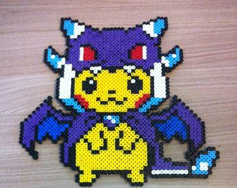 Pixel Art Perler Beads Pokemon Pikachu Costume Christmas