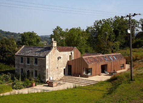 old farm house extension rural style architecture Építészeti